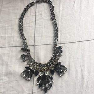 Jewelry - Black and crystal Statement necklace